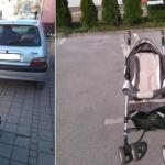 Banjaluka: Vozači se žale na roditelje koji parkiraju dječija kolica na trotoaru